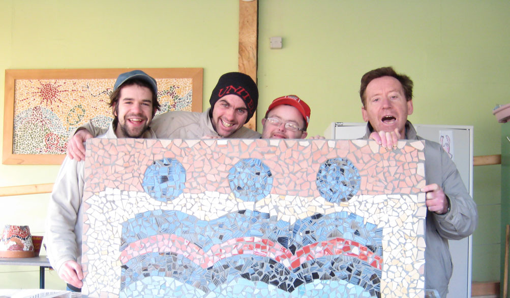 Mosaic craft project at Kingsriver Community, Co. Kilkenny